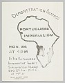 View Flyer for demonstration against Portuguese imperialism in Africa digital asset number 0