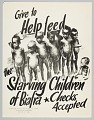 View Flyer advertising a donation drive to help the starving children in Biafra digital asset number 0