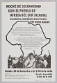 View Flyer announcing a night of solidarity with South African liberation digital asset number 1