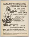View Flyer advertising a demonstration in solidarity with Zimbabwean liberation digital asset number 0
