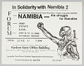 View Flyer announcing a forum and film showing on Namibia digital asset number 0