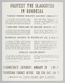 View Flyer advertising a protest against slaughter in Rhodesia digital asset number 0