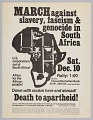 View Flyer announcing a protest against apartheid in South Africa digital asset number 0