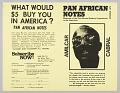 View Flyer soliciting subscription to Pan African Notes magazine digital asset number 0