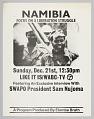 View Flyer advertising television program about liberation in Namibia digital asset number 0