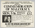 View Flyer advertising a commemoration of Malcolm X digital asset number 0