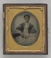 View Ambrotype of Elisa Greenwell with handwritten note digital asset number 0