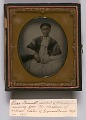 View Ambrotype of Elisa Greenwell with handwritten note digital asset number 1