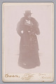 View Cabinet card of an unidentified woman wearing a top hat and a fur stole digital asset number 0
