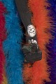 View Rainbow feather boa and shoulder pads cape worn by André 3000 digital asset number 4