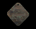 View Charleston slave badge from 1812 for Fisher No. 103 digital asset number 0