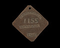 View Charleston slave badge from 1857 for Servant No. 1155 digital asset number 0