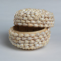 View Ceremonial basket adorned with cowrie shells digital asset number 3