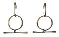 View Brass loop earrings by Art Smith digital asset number 0