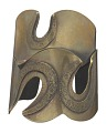 "View ""Three Hole"" brass cuff by Art Smith digital asset number 0"