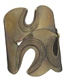 "View ""Three Hole"" brass cuff by Art Smith digital asset number 1"