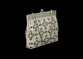 View Silver handbag with beadwork decoration from Mae's Millinery Shop digital asset number 2