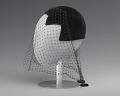 View Black velvet cap with net veil and rhinestone pin from Mae's Millinery Shop digital asset number 1