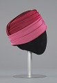 View Pink turban style hat and scarf from Mae's Millinery Shop digital asset number 4