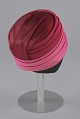 View Pink turban style hat and scarf from Mae's Millinery Shop digital asset number 5