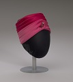 View Pink turban style hat and scarf from Mae's Millinery Shop digital asset number 8