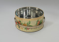 View Floral print tin containing feathers and faux flowers from Mae's Millinery Shop digital asset number 4