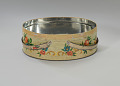 View Floral print tin containing feathers and faux flowers from Mae's Millinery Shop digital asset number 5
