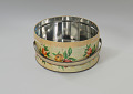 View Floral print tin containing feathers and faux flowers from Mae's Millinery Shop digital asset number 6