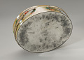 View Floral print tin containing feathers and faux flowers from Mae's Millinery Shop digital asset number 7