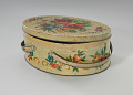 View Floral print tin containing feathers and faux flowers from Mae's Millinery Shop digital asset number 1