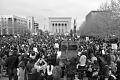 View Digital image of a crowd of protesters at Baltimore War Memorial digital asset number 0