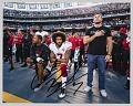 View Signed digital print of Colin Kaepernick kneeling during national anthem digital asset number 0