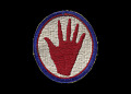 View Reproduction patch with Red Hand emblem digital asset number 0