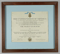 View Medal of Honor Citation issued for First Lieutenant John E. Warren, Jr. digital asset number 0