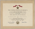 View The Bronze Star Citation issued for First Lieutenant John E. Warren, Jr. digital asset number 0