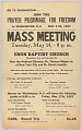 "View Flier for ""Prayer Pilgrimage for Freedom"" meeting at Enon Baptist Church digital asset number 0"