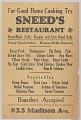 View Flier advertising Sneed's Restaurant digital asset number 0