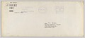 View Envelope for letter from H.W. Sewing for Daisy Bates Trust Fund digital asset number 0