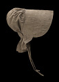 View Taupe bonnet with cross-stitched brim worn by the enslaved woman Martha Barnes digital asset number 2