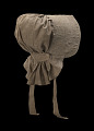 View Taupe bonnet with cross-stitched brim worn by the enslaved woman Martha Barnes digital asset number 3