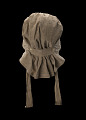 View Taupe bonnet with cross-stitched brim worn by the enslaved woman Martha Barnes digital asset number 4
