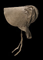 View Taupe bonnet with cross-stitched brim worn by the enslaved woman Martha Barnes digital asset number 5