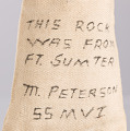 View Bag containing a piece of brick from Fort Sumter owned by Marquis Peterson digital asset number 6