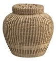 View <I>Lidded Cobra Basket with French Knots</I> digital asset number 0