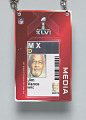 View Journalist pass for Super Bowl XLVI owned by Jim Vance digital asset number 2