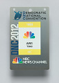 View Journalist pass for the 2012 Democratic National Convention owned by Jim Vance digital asset number 3