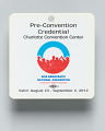View Journalist pass for the 2012 Democratic National Convention owned by Jim Vance digital asset number 4