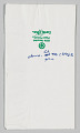 View Napkin with handwritten text owned by Jim Vance digital asset number 0