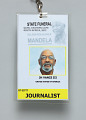 View Journalist pass for Nelson Mandela's State Funeral owned by Jim Vance digital asset number 3
