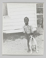 View Portrait of Willie Sartin with a dog digital asset number 0